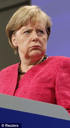 Under pressure: German Chancellor Angela Merkel doesn't want a Euro superstate - and can't afford to finance one anyway